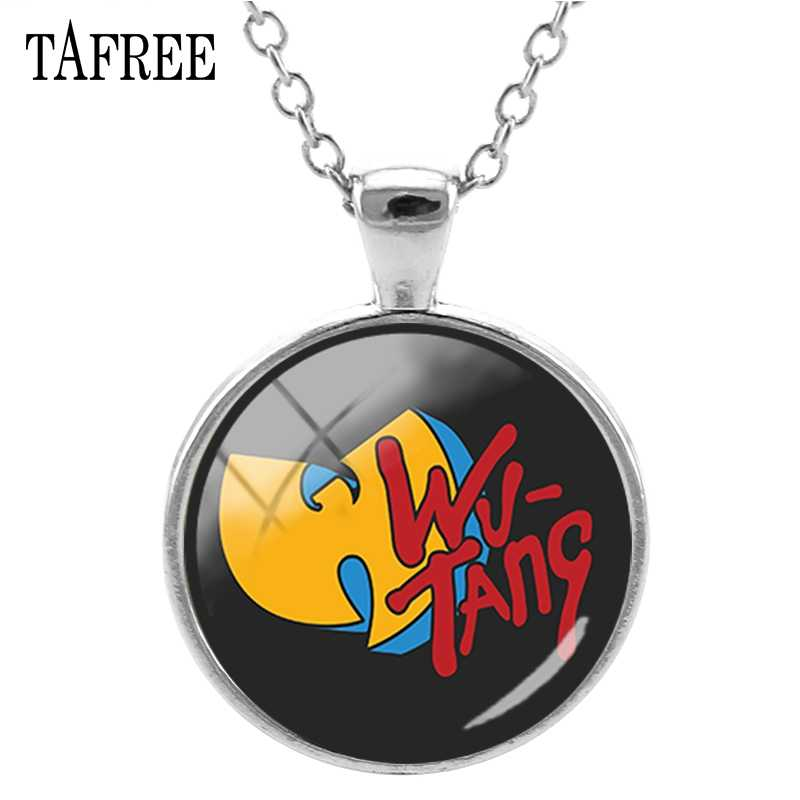TAFREE Wu Tang Clan מוסיקה להקת שרשרת מפורסם היפ הופ עגול תליון שרשראות man נשים חדש באיכות גבוהה תכשיטים WT02
