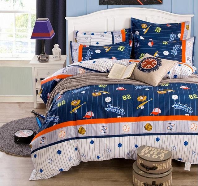 Fun Baseball Bedding Sets Twin Full Queen King Size Duvet Cover Flat Sheet Pillowcase