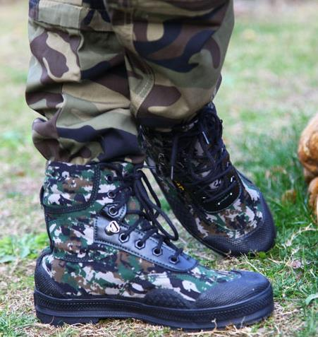 Aliexpress.com : Buy Woodland camouflage combat boots commando ...