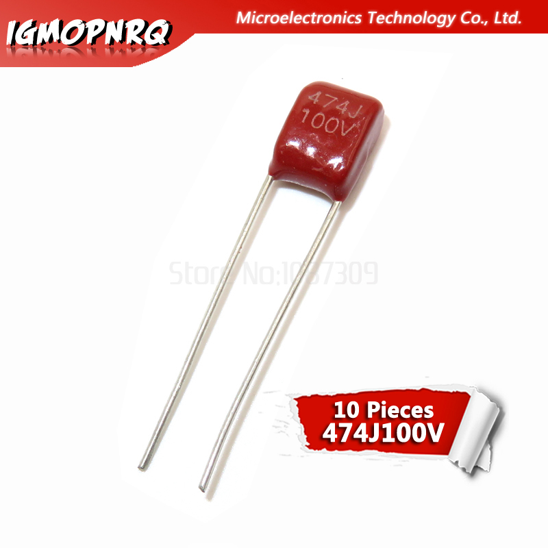 10PCS 100V474J 0.47UF 5% Pitch 5mm 470nf 474 100V Igmopnrq CBB Polypropylene Film Capacitor New