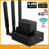 HEVC H.265 H.264 3G 4G LTE 1080P HD HDMI Video Encoder HDMI Transmitter Live Broadcast Encoder Wireless H264 Encoder WiFi RTMP