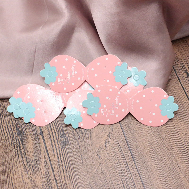 200PCS Colorful Paper Cute Stud Necklace HangTag Card Jewelry Display Packing Card Eearring Packaging 4.5x11cm 3.9x11.5cm Cards