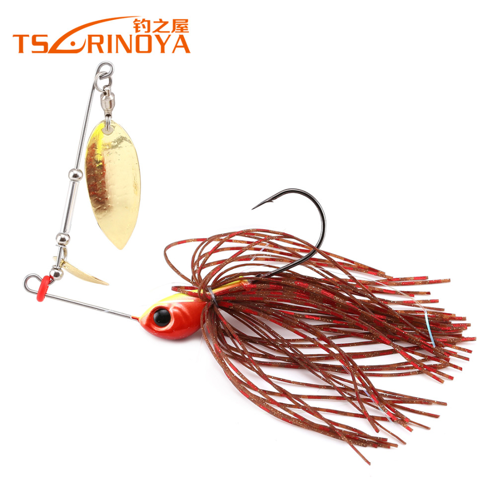 Trulinoya p24 spinner bait 7g fishing lure 5pcs lot fresh for Spinner fishing lures