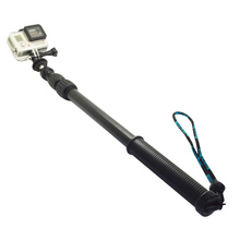 Купить с кэшбэком SnowHu skiing Extension Pole 32-75cm Monopod for Gopro Hero 7 6 5 4 3+ for xiao yi 4K for SJCAM SJ4000 h9r Action Camera GP253