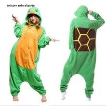 Kigurumi Onesies Men women Cosplay Cartoon Adults Unisex Animal Sea Turtle Costume Pajamas Pyjamas Loungewear Hoodie Sleepwear
