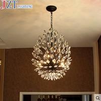 M K9 Crystal Chandelier American Retro Iron 4/14 Heads G9 5W Living Room Restaurant Nordic Individuality Art Bedroom Lighting