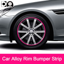 8 meters Car Alloy Wheel Rim Bumper Strip for Tesla Model 3 X S Roadster
