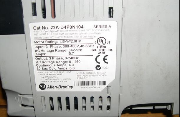 AB  22A-D4PON104  22AD4PON104 Powerflex used in good condition