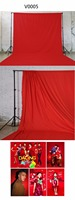 3mx6m 100% Cotton Muslin Backdrop Photography Studio red Background,wedding Solid Seamless Cotton Cloth Video Photo Backdrop