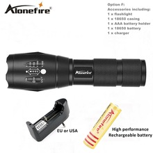 AloneFire E17 XM-L T6 5000LM High powe Waterproof Zoomable CREE LED Flashlight Torch light for 18650 Rechargeable Battery or AAA