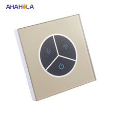 touch switch wall dimmer dc 12-24v 8a led strip dimmer for 3528 5050 single color lamps output 1 channel brightness adjustable