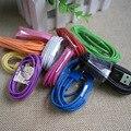 Alta Calidad 3 M/10FT Colorido Cable 8Pin USB Data sync cuerda de Carga Del Cargador Del Cable para 5c iphone 7 6 6 s más 5 5S sí último ios 10