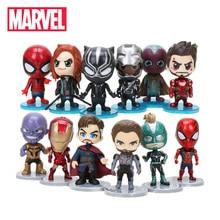 Высота каблука 10 см 6 шт./компл. Marvel игрушки Мстители завершающей thonas Доктор Странный Человек-паук фигурка капитан Марвел Кэрол Дэнверс модель куклы