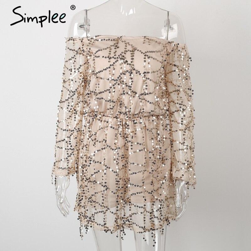 Simplee одежда сексуальная с плеча блесток кисточкой летнее платье 2016 пляж партия короткое платье женщины спинки винтаж платье vestidos