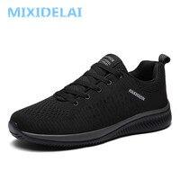 MIXIDELAI/Новая мужская повседневная обувь из сетчатого материала легкая мужская обувь удобная дышащая прогулочная теннисные кроссовки Feminino ...