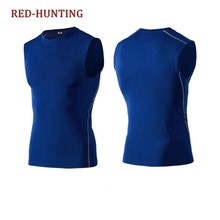 de4a9e09dbf276 Men Bodybuilding Sleeveless T Shirt Sport Fitness Compression Shirt Gym  Breathable Running Tops Quick Dry Shirts
