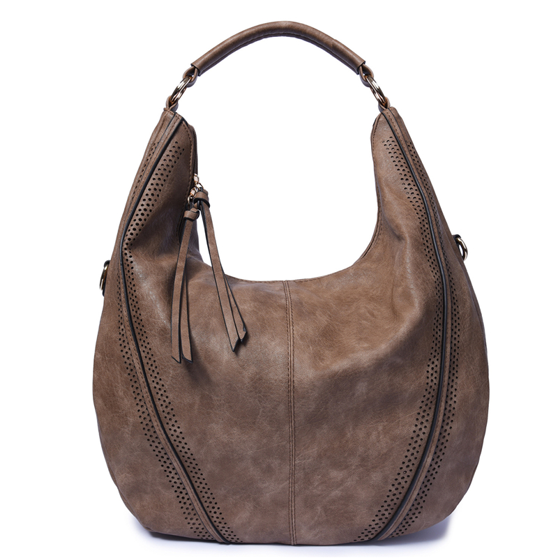 Image 2 - SGARR Fashion Womnen PU Leather Handbags High Quality Large Capacity Ladies Shoulder Bag Casual Vintage Female Hobos Tote Bags-in Shoulder Bags from Luggage & Bags