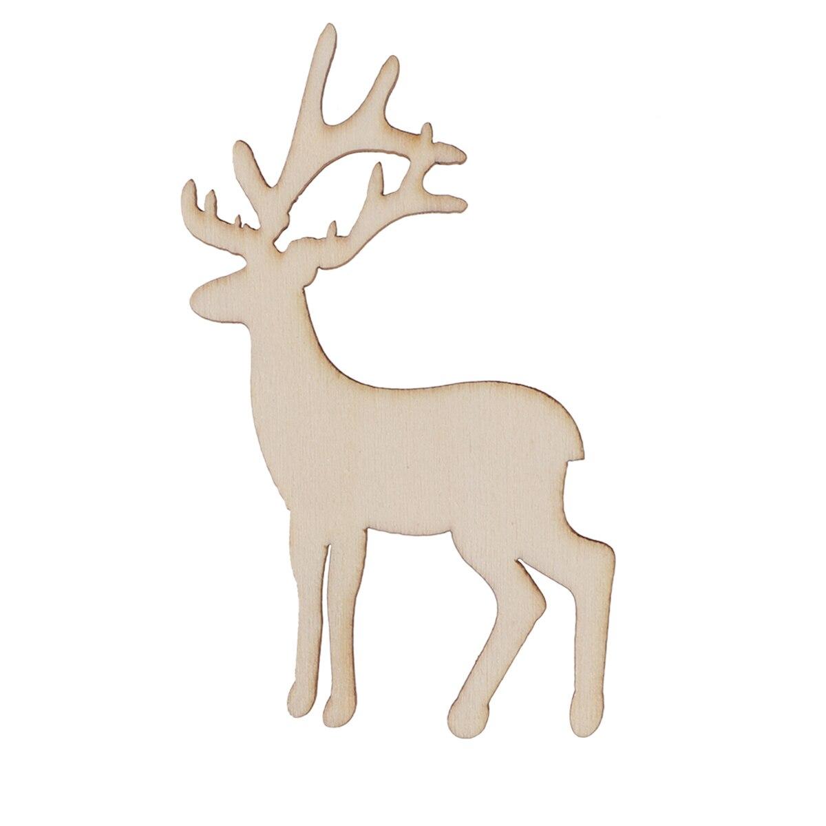 Wooden Reindeer Cutout Veneers Slices