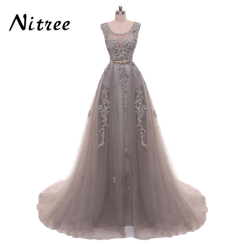 Generous Red Carpet Dresses 2017 Celebrity Dresses Tulle With Black Lace Dubai Kaftan Robe De Soiree Long Sleeve Vestido De Festa Factory Direct Selling Price Weddings & Events