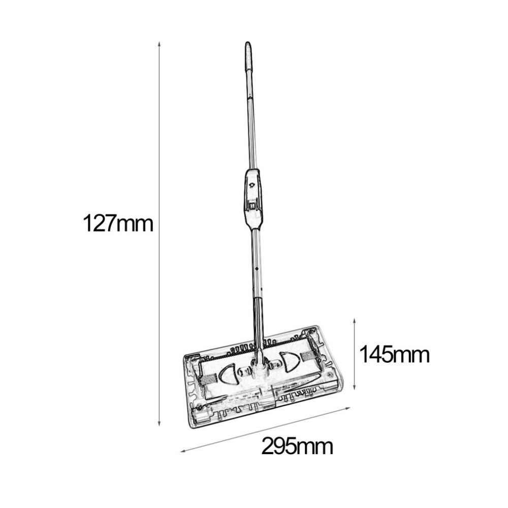 コードレス電気掃除手プッシュ式モップ充電式バッテリー集塵機 360 度回転カーペット床クリーナー