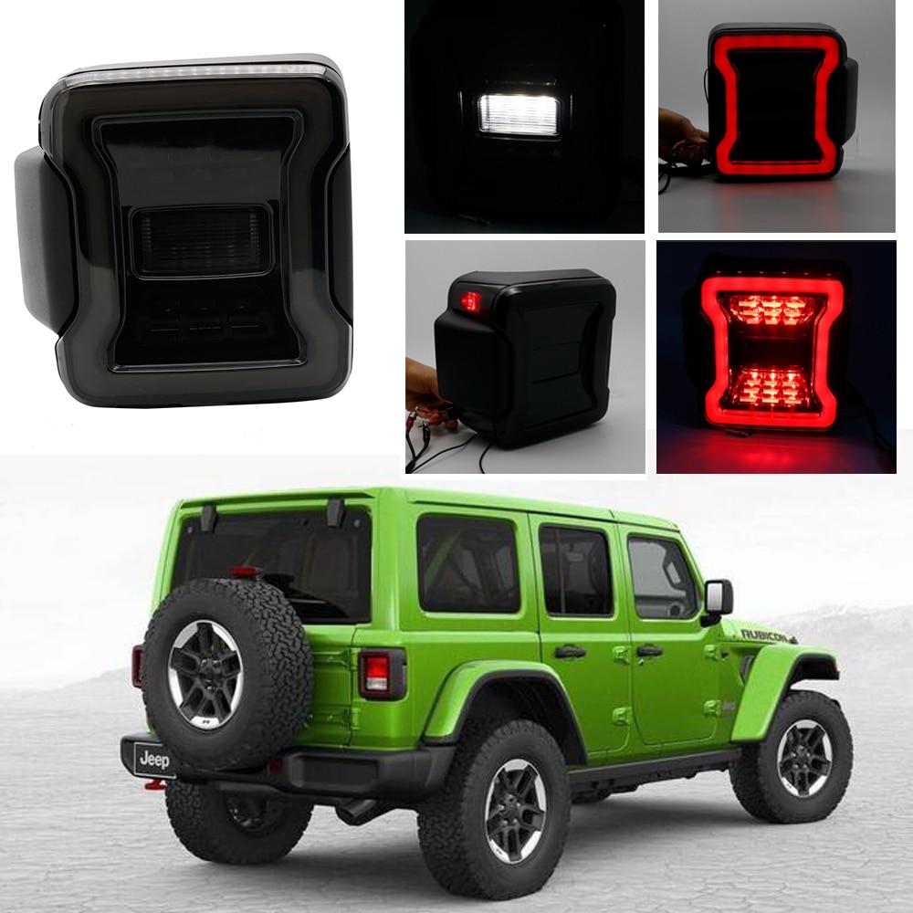 New USA version smoke led tail lamp For Jeep Wrangler JL 2018 2019 car tail light