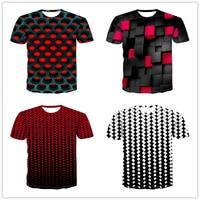 Алмазная квадратная 3D цифровая печать мужские футболки 2019 летние новые модные футболки с коротким рукавом дышащие мужские футболки с кругл...