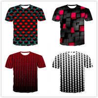 Diamante quadrado 3D impressão digital dos homens Top Tees 2019 verão new fashion short-manga T-Shirt dos homens respiráveis o-Neck camiseta