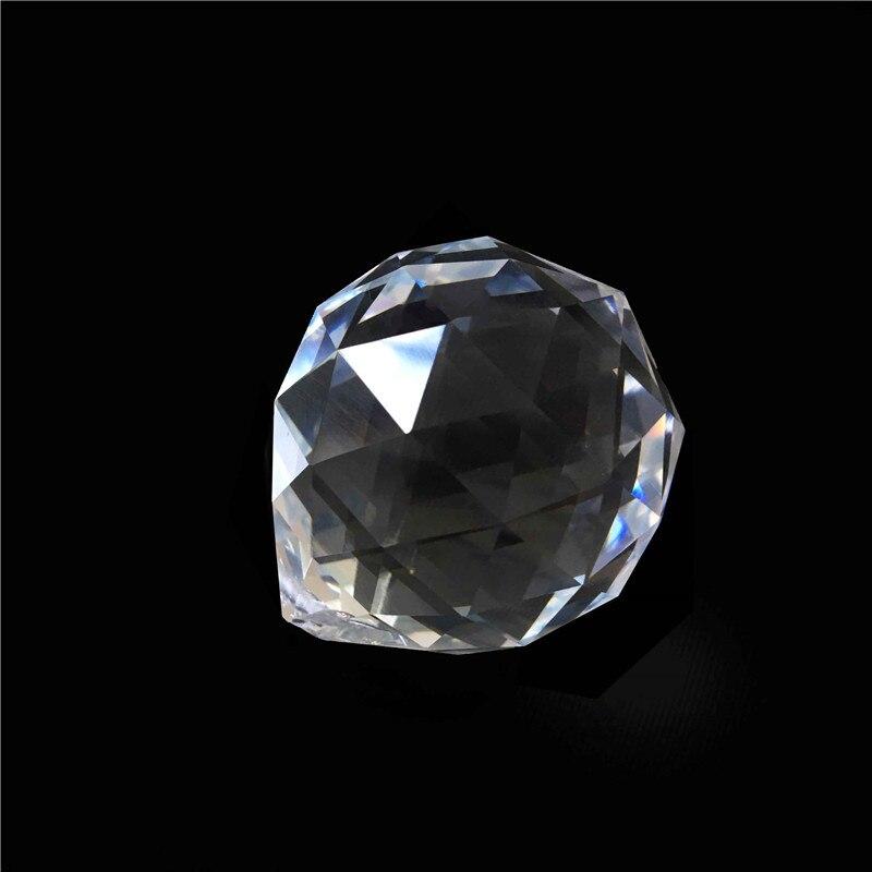 1PC / Lot 80 մմ Crystal Glass Fengshui Facized Prism - Տոնական պարագաներ - Լուսանկար 3
