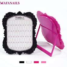 48 Colors Cards Nail Art Tip Chart Display Rack Pictur Frame Shape 4 (W/B/P/R) Option Polish Palette Stand Showing TDS04