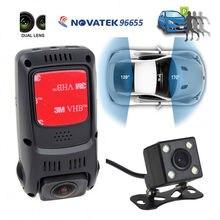 B40D Двойной Объектив Супер Конденсатор HD 1080 P Приборную панель Автомобиля Камера Видео Рекордер DVR