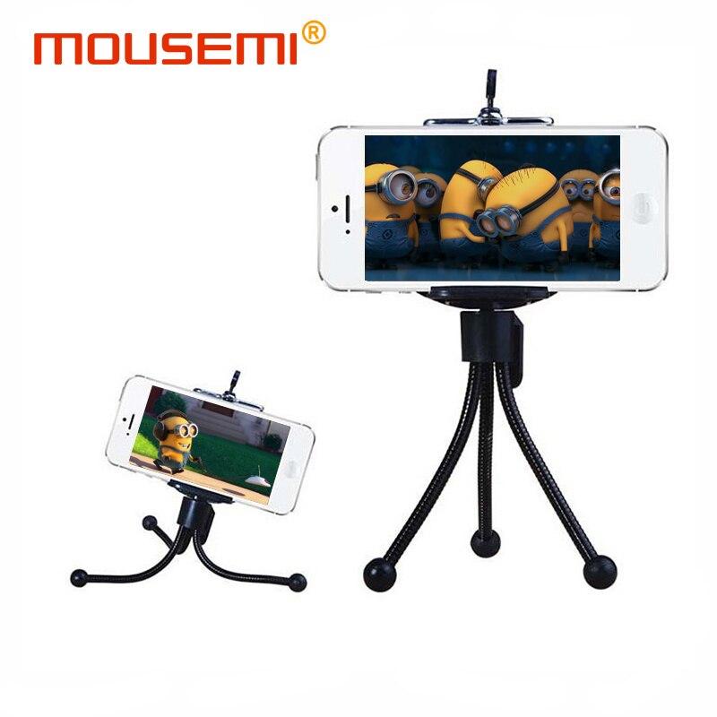 Mini Portable Flexible Metal Tripod Car font b Phone b font Holder Selfie Stand Monopod Mount