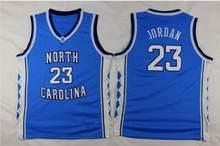c25e2b166 North Carolina Tar Heels 23 Michael Jordan College Basketball Jerseys  Costurado Homens Azul Branco Preto S