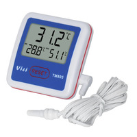 TM805 Fridge Freezer Thermometer LCD Digital Thermometer Probe Fridge Freezer Thermometer Thermograph For Refrigerator