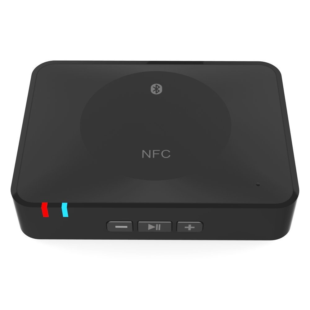 New NFC Bluetooth Audio Receiver Wireless Audio Adapter 3.5mm RCA Stereo Output for Sound System 3 5mm wireless car bluetooth audio receiver with stereo output