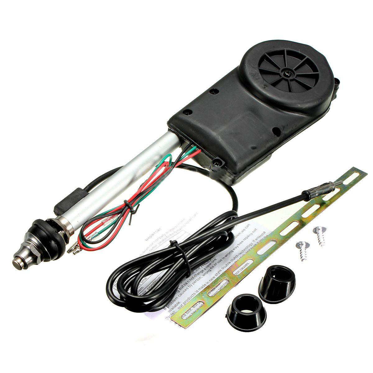 Car Electric Aerial Radio Automatic Booster Power Antenna Kit Black