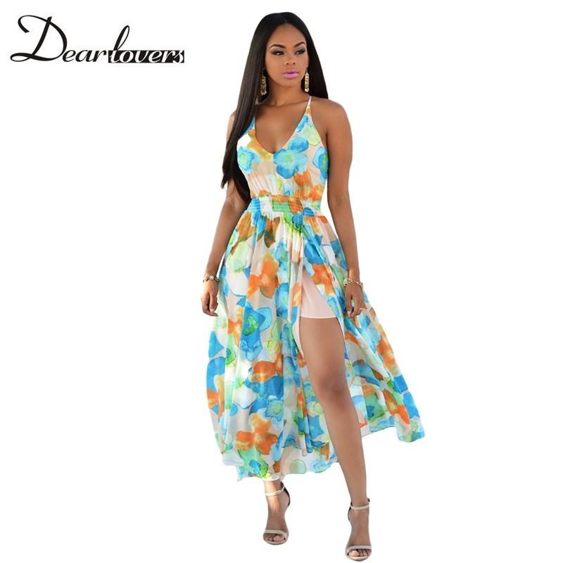 HTB1nhKQKFXXXXaNXpXXq6xXFXXXm - Maxi Dress Floral Slit Romper Long Dress JKP062