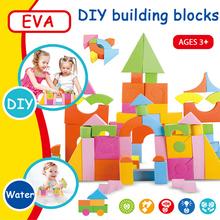 DOLLRYGA EVA Big Building Block 58pcs Knutselen Kinderen Toys for Children Kids Craft Jouet Enfant Lote DIY Colorful Foam Blocks