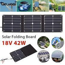 Folding Solar Pane 42W 18V Outdoor Portable Solar Generator Solar Charging USB+DC Port Emergency Power Supply