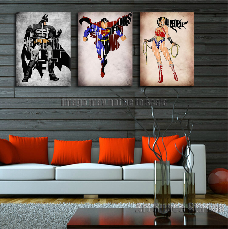 Wonder Woman Wall Art online get cheap superman and wonder woman art -aliexpress