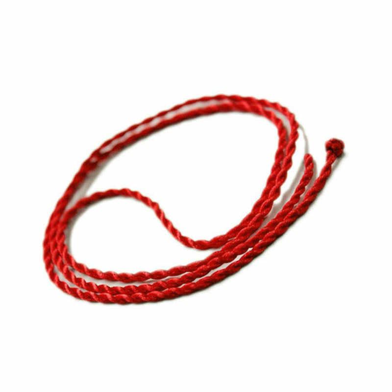 1pc Lucky Fashion Red Necklace Twist Rope Bracelet for Women Adjustable Handmade Jewelry Lovers Diy Joyas Men String Line 2019