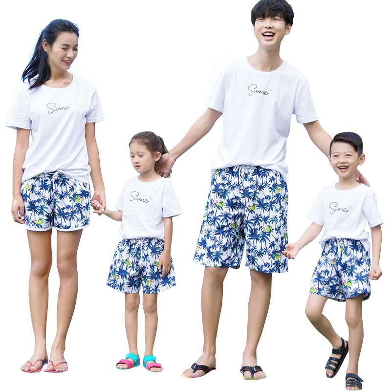Family Beach   Shorts   2018 Summer Fashion Quick-drying Couples   Shorts     Board     Shorts   Parent-child BoardShorts Bermudas Swimshorts