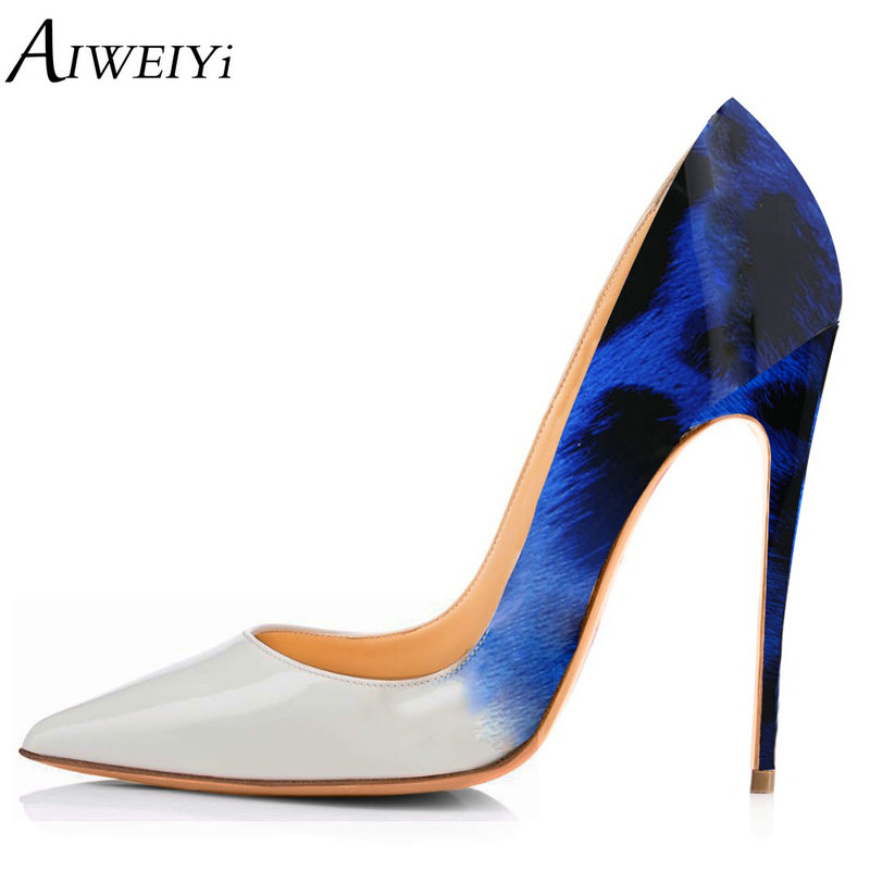 AIWEIYi Leopard Print Women Pumps Pointed Toe Thin High Heels 2018 New Platform Pumps Stiletto High Heels Shoes Woman цена 2017