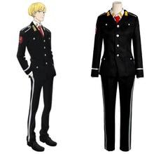 New Original ACCA:13-ku Kansatsu-ka Jean Otus Owl Knot Cosplay Costume Outfit Uniform Suit Jacket Shirt Pants Tie For Male
