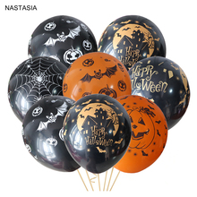 NASTASIA 10 pz/lotto zucca di Halloween palloncino in lattice 12 pollici 2.8g palloncini partito nero orange giocattoli per bambini