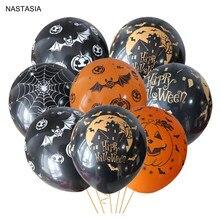 NASTÁCIA 10 pçs/lote Halloween pumpkin 12 polegada 2.8g balões de festa balão de látex preto orange crianças brinquedos