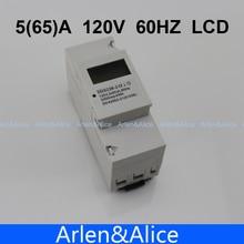 5 (65) A 120 V 60 HZ DDS238-2 MONOFÁSICO carril Din KWH Watt hora carril din contador de energía LCD