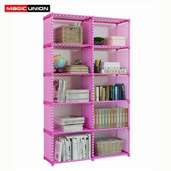 Magic Union Multifunctional Home Storage Shelf 5 Layers DIY Bookshelf Student Dormitory Reinforcement Waterproof Storage Cabinet