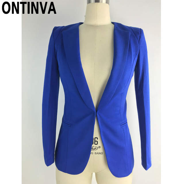 placeholder Blazer amarillo femenino talla grande 4XL chaqueta Formal mujer  blanco Blaser Rosa mujer azul traje de 986da254e578