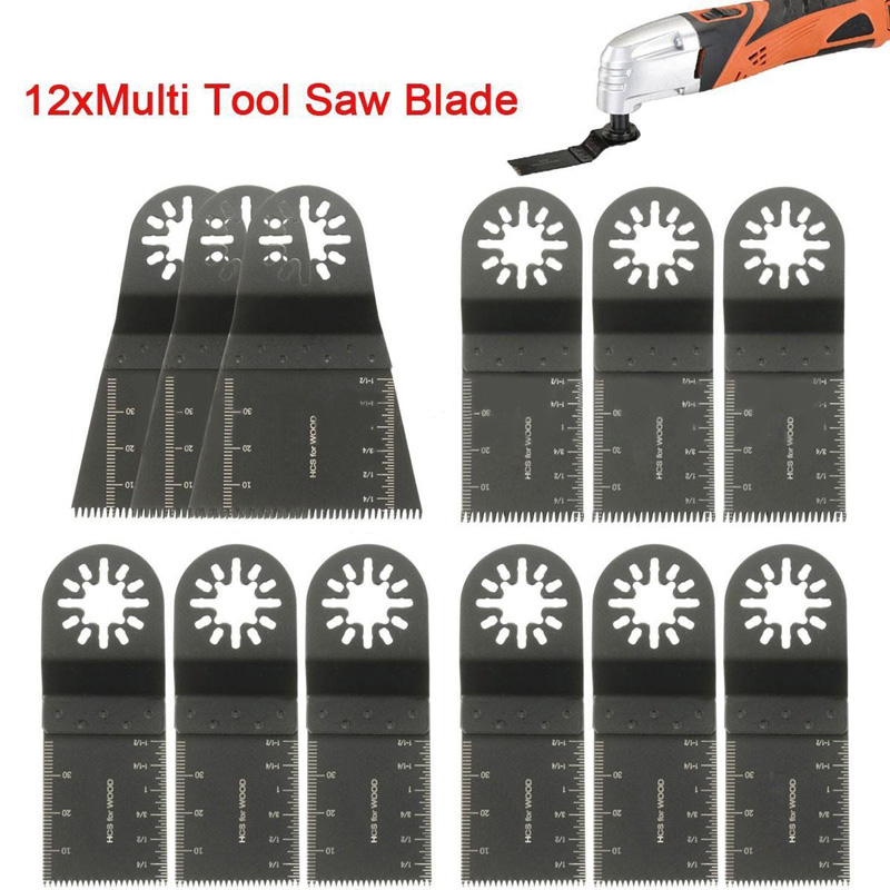 12Pcs Set Saw Blades Oscillating Multi Power Tool For Fein Bosch Cable Makita