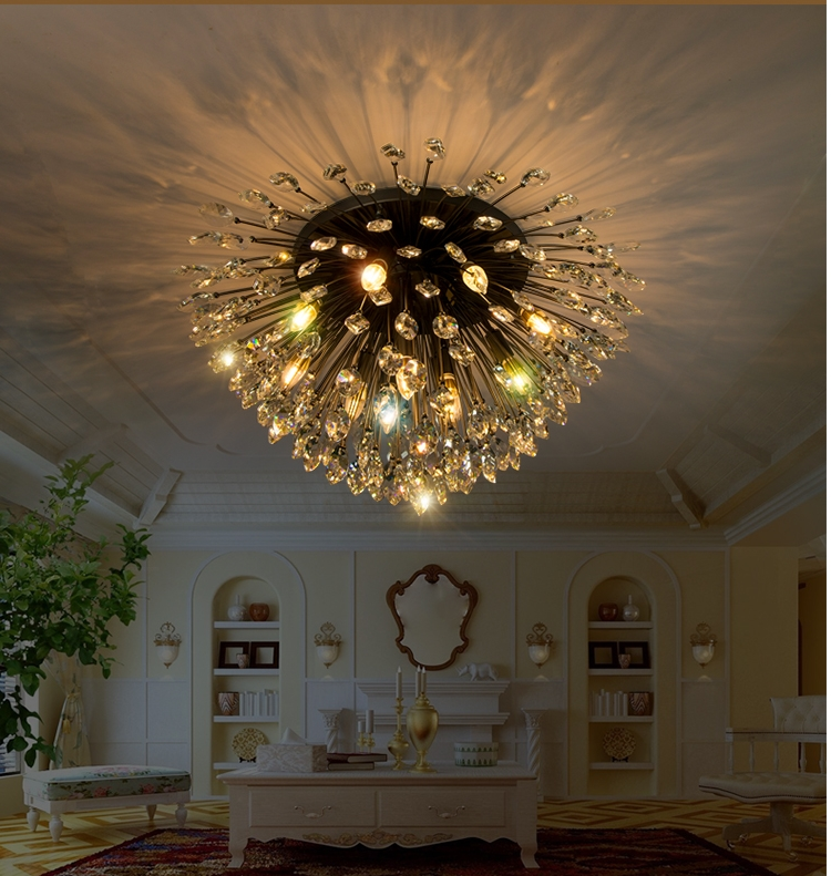 Chandelier Ceiling Crystal Lights Lamp Modern Pendants Lamps Living Room Led Lighting Design Bedroom Simple American Style modern simple crystal chandelier light creative personality crysta chandelier lamps chandeliers lighting living room bedroom